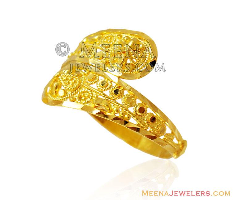 designer fancy gold ring 22k rilg15148 22k fancy gold