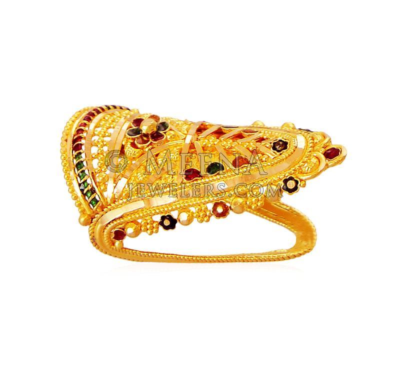 22K Gold Traditional Ring - RiLg18442 - 22K Gold Ring designed in ...