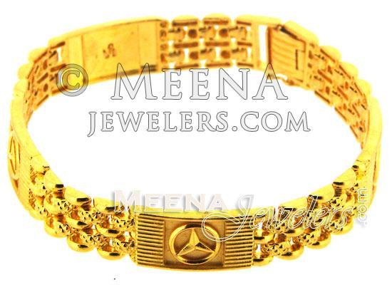 22kt Gold Men S Bracelet Brmb116 22kt Gold Mens