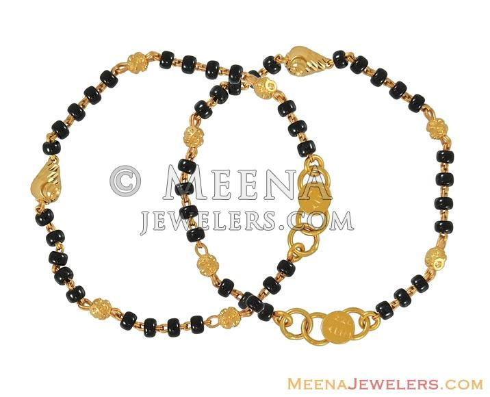 Gold indian baby bracelet babr6724 22k gold kids for Baby jewelry near me
