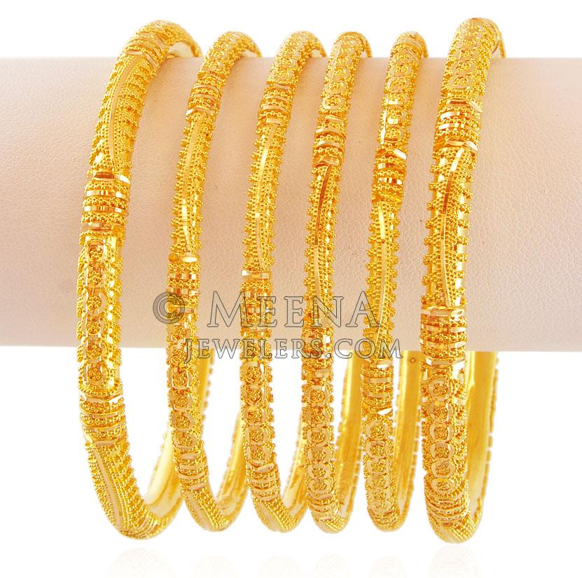 Traditional Indian Bangles 22K Gold - bast17424 ...