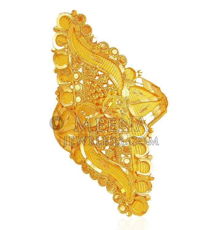 22karat Fancy Gold Ring - RiLg20838 - 22karat Gold Fancy Ladies ...