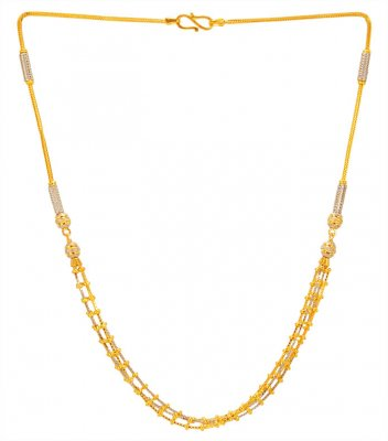 22KT Gold Four Layered Chain ( 22Kt Gold Fancy Chains )