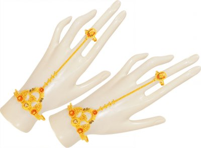 22Karat Gold Panja Bracelet (2 PC) ( Ladies Bracelets )