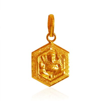 22Kt Gold Lord Ganesh Pendant ( Ganesh, Laxmi and other God Pendants )