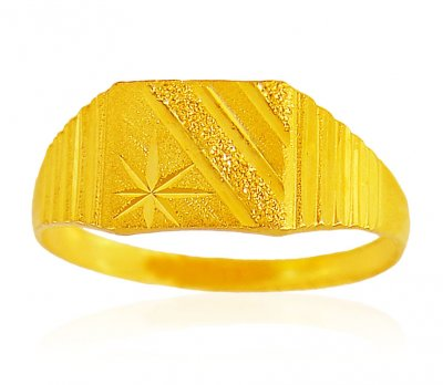22K Gold Ring For Mens ( Mens Gold Ring )