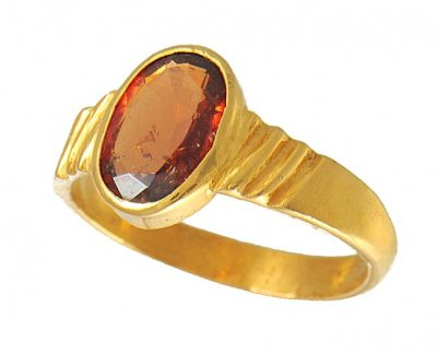 22k Gold Birthstone Ring (Gomed) ( Astrological BirthStone Rings )