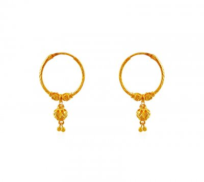 22Kt Gold Hoops ( Hoop Earrings )