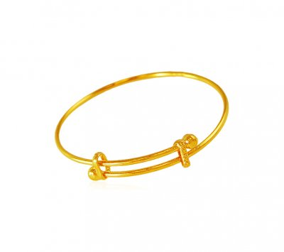 22Kt Gold Kids Kada 1PC ( Baby Bangles )