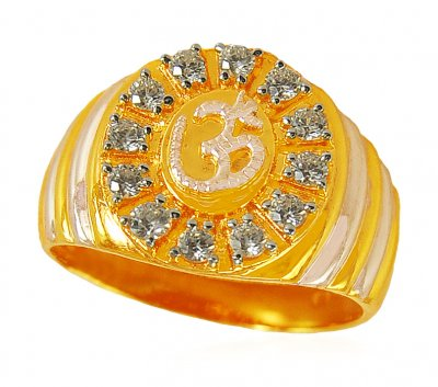22K OM Mens Ring ( Religious Rings )