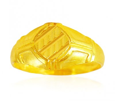 22K Gold Mens Ring ( Mens Gold Ring )