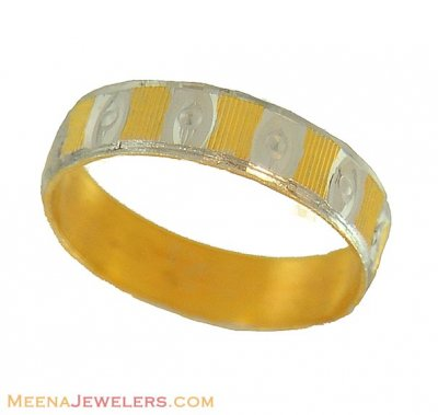 Two tone Gold Wedding Band ( Wedding Bands )