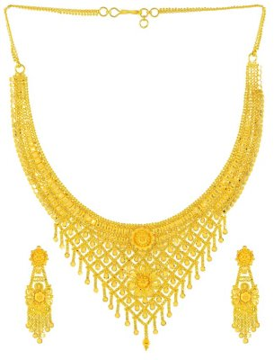 Filigree Gold Necklace Set ( 22 Kt Gold Sets )