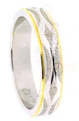18Kt Gold Wedding band 2 Tone Heavy ( Wedding Bands )