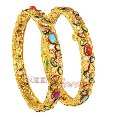 Gold Antique Bangles ( Antique Bangles )