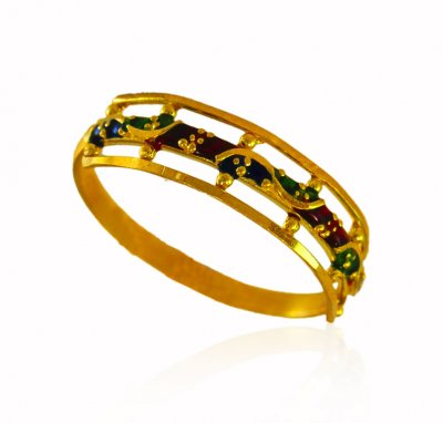22Kt Gold Ring For Ladies ( Ladies Gold Ring )