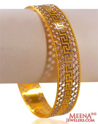 22k Gold Two Tone Kada(1 pc) ( Two Tone Bangles )