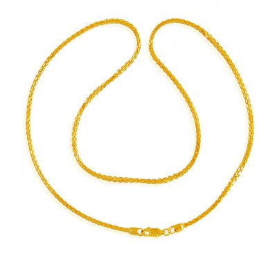 22 Kt Gold Chain (20 In) ( Men`s Gold Chains )