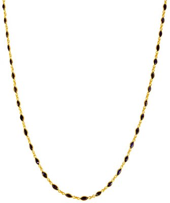 22K Gold Blue Sapphire Chain ( 22Kt Gold Fancy Chains )