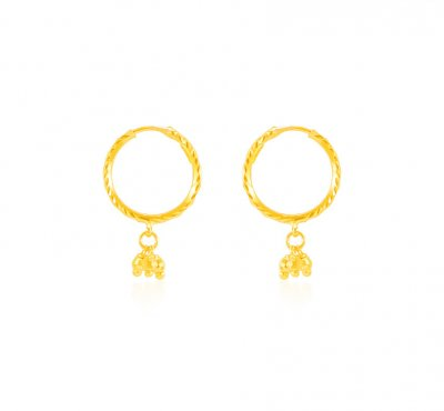 22K Gold Hoop Earrings For Girls ErHp US$ 184 22K Gold