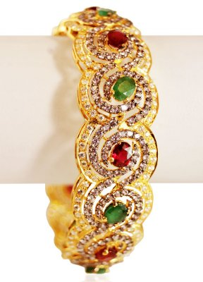 22K Gold Antique Kada(1pc) ( Antique Bangles )