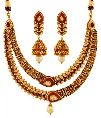 Traditional Antique Necklace Set22k ( Antique Necklace Sets )