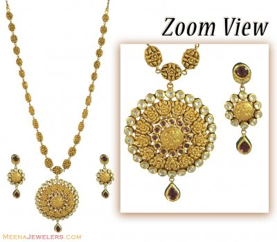 22k Designer Kundan Patta Haar  ( Bridal Necklace Sets )
