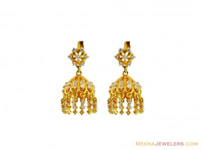 22k Exclusive Jhumki earrings ( 22Kt Gold Fancy Earrings )