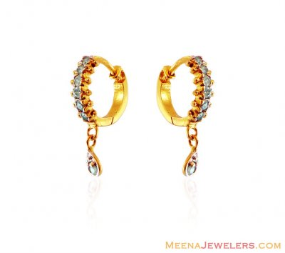 22K Clip On Earring With Hanging ( Clip On Earrings )