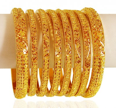 22kt Gold Bangles(6Pcs) ( Set of Bangles )