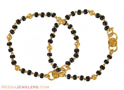 Baby Bracelet with Black Beads ( Black Bead Bracelets )