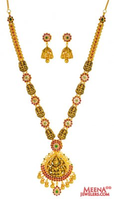 22 Kt Necklace Set (Temple Jewelry) ( Antique Necklace Sets )