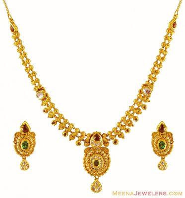 Gold Antique Set ( Antique Necklace Sets )