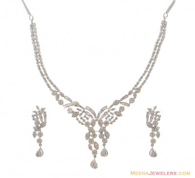 18K Exclusive Diamond Set ( Diamond Necklace Sets )