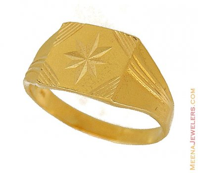 22K Gold Ring (Star sign) ( Mens Gold Ring )