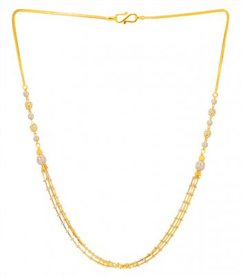 22kt Gold Fancy Necklace Chain ( 22Kt Gold Fancy Chains )