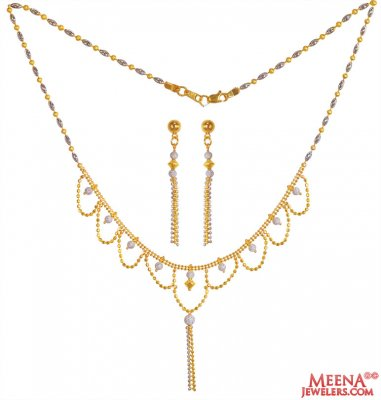 22K Gold Delicate Fancy Dokia Set  ( Light Sets )