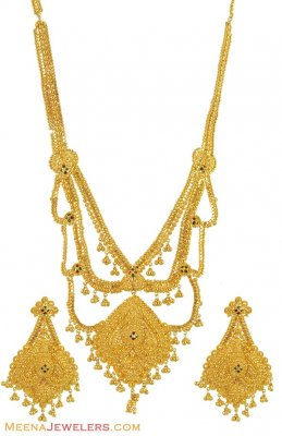 Meenakaril Rani Haar (22Kt) ( Bridal Necklace Sets )