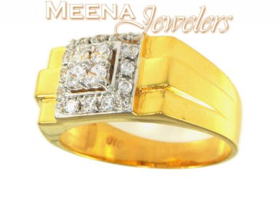 22Kt Gold Mens Signity Ring ( Mens Signity Rings )