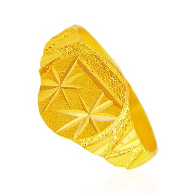 22 Karat Gold Mens Ring ( Mens Gold Ring )