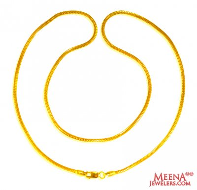 22 kt Gold Chain  ( Plain Gold Chains )