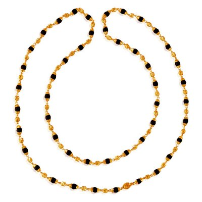 22 Karat Gold Black Tulsi Mala ( 22Kt Long Chains (Ladies) )