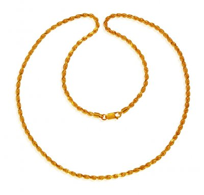 22 Kt Gold Mens Chain (22 Inch) ( Men`s Gold Chains )