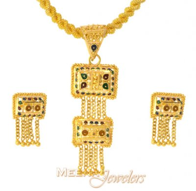 MeenaKari Gold Pendant Set ( Gold Pendant Sets )