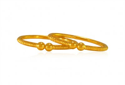 22K Gold Baby Bangle (2 Pcs) ( Baby Bangles )