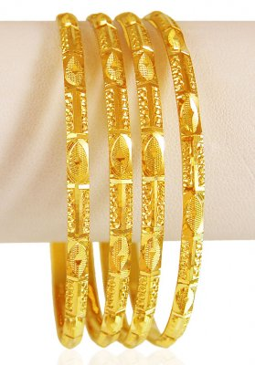 22 KT Gold Bangles Set ( Set of Bangles )