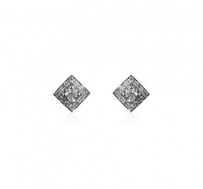 18K Yellow Gold Diamond Earrings ( Diamond Earrings )