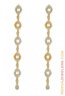 Long Fancy Earring ( 22k gold) ( Long Earrings )