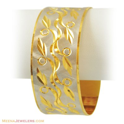 22k Gold 2 Tone Bangle(1 pc) ( Two Tone Bangles )