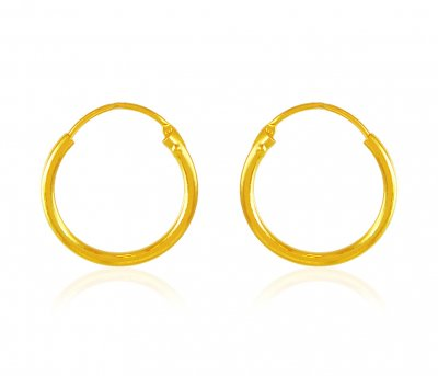 22 Karat Gold Hoop Earrings ( Hoop Earrings )